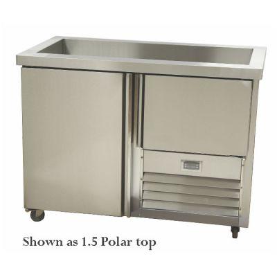 2.5 Stainless steel doors underbar fridge with polar top