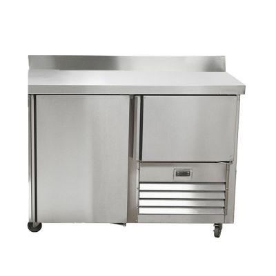 1.5 Stainless steel door underbar fridge - with splashback