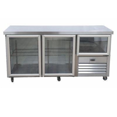 2.5 Glass doors underbar fridge - no splashback