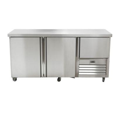 2.5 Stainless steel doors underbar fridge - no splashback