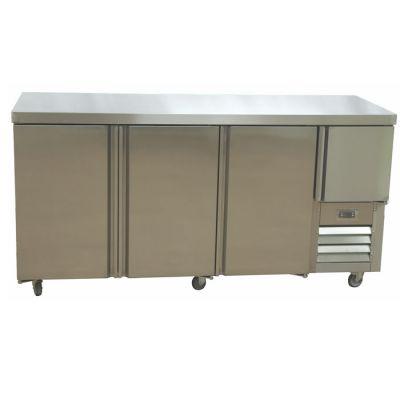 3.5 Stainless steel doors gastronorm underbar fridge