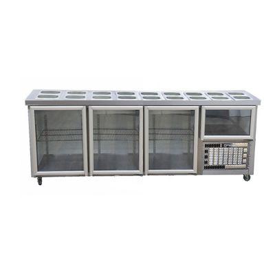 3.5 Glass door hampers underbar fridge