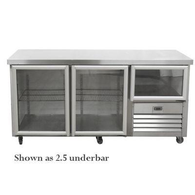 3.5 Glass doors gastronorm underbar fridge
