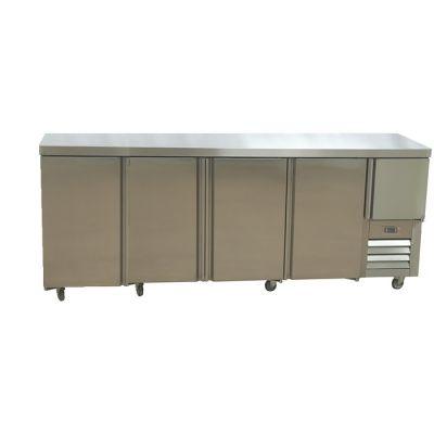 4.5 Stainless steel doors underbar fridge - no splashback