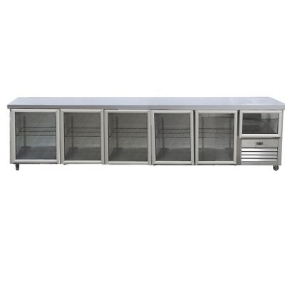 5.5 Glass door gastronorm underbar fridge