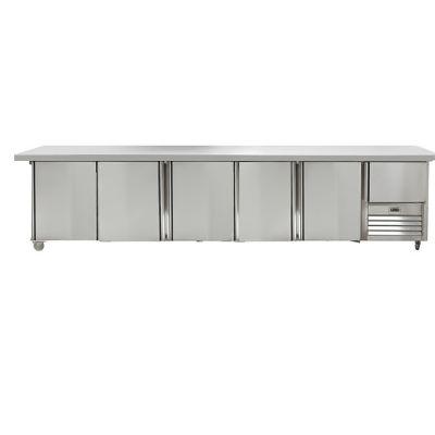 5.5 Stainless steel doors gastronorm underbar fridge