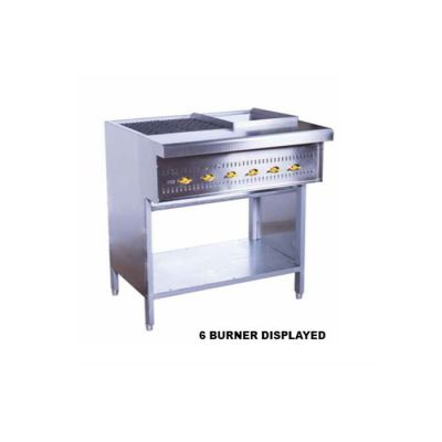 6 burner griller/griddle - floor standing