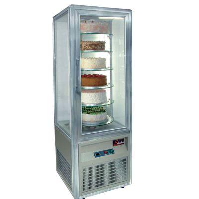Cake display fridge - 6 rotating shelves - floorstanding