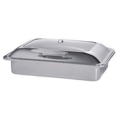 Chafing dish with hydraulic glass lid - oblong