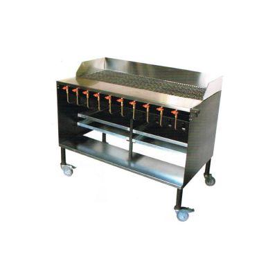 10 Burner charcoal griller - floor standing