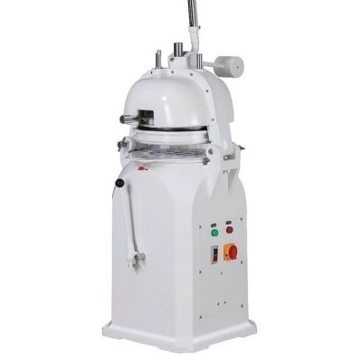 Dough divider and rounder, semi-automatic