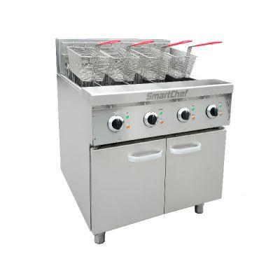 Double twin pan 15Lt fryer - Floorstanding