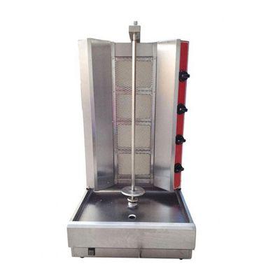 4 Burner gas shwarma machine