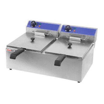 Double pan fryer, 2 x 6L - table model