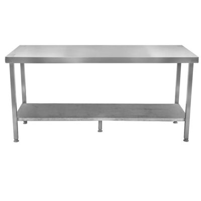 Stainless steel table with galvanized shelf - 600mm