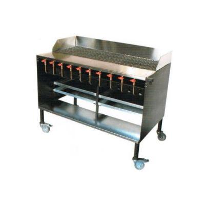 8 Burner charcoal griller - floor standing