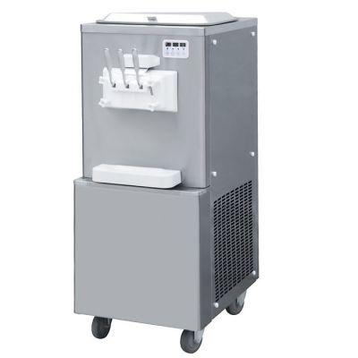Soft serve machine with double-barrel floor standing