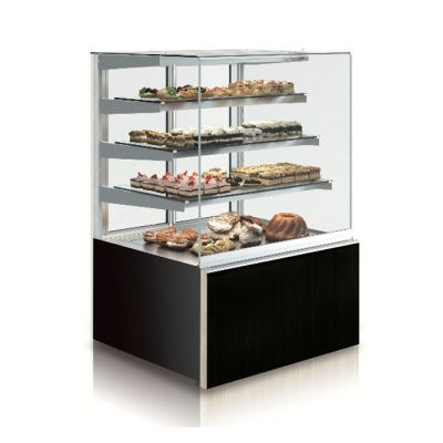 Heated square high display cabinet - 1.3m