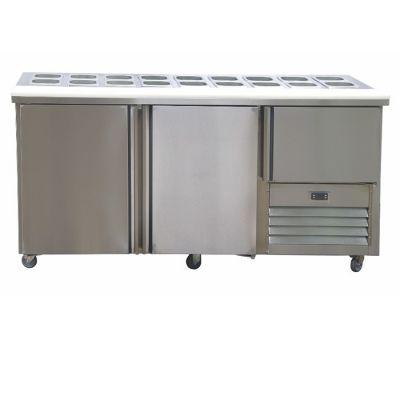 2.5 Stainless steel doors hampers underbar fridge