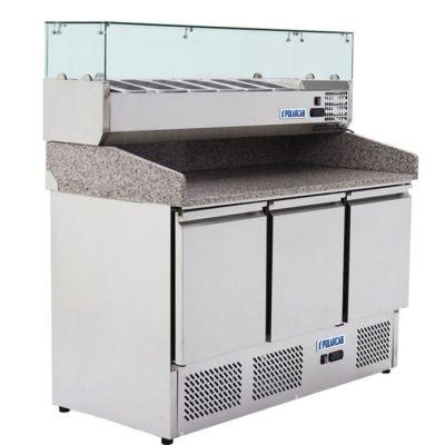 Saladette prep/assembly worktop fridge