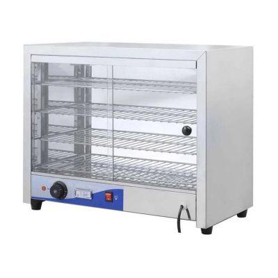 Countertop square pie warmer - 640mm