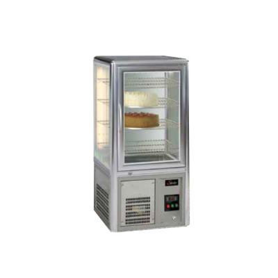 Cake display fridge - 4 rotating shelves - table top