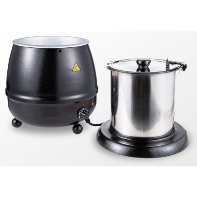 Black electric soup kettle