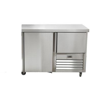 1.5 Stainless steel door underbar fridge - no splashback
