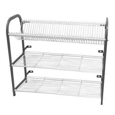 Crockery rack wall mounted 3 shelf - 802mm
