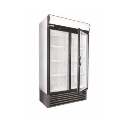 Double glass door upright freezer