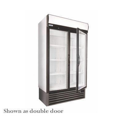 Single stainless steel door upright freezer
