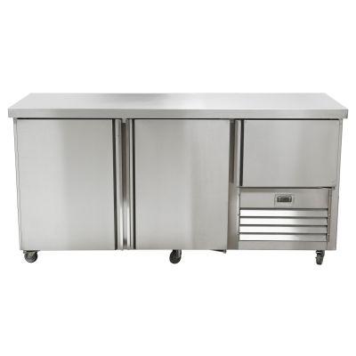 2.5 Stainless steel door gastronorm underbar fridge