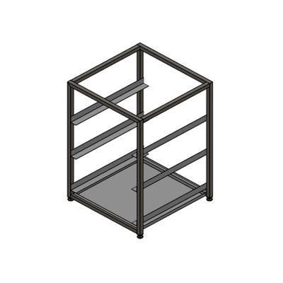 Free standing understorage basket rack - (3x)