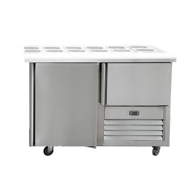 1.5 Stainless steel doors hamper underbar fridge
