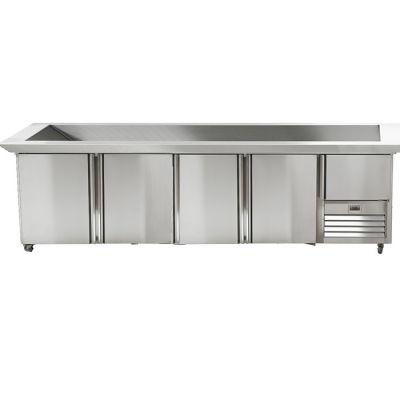 4.5 Stainless steel doors underbar fridge with polar top